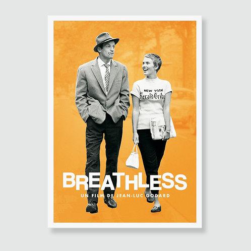 BREATHLESS (Jean-Luc Godard, Jean Seberg) Movie Art Print / Film Poster