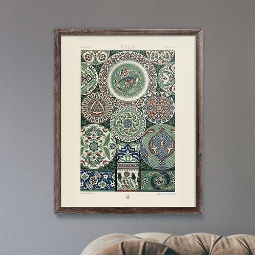 Framed Giclèe Art Print Mockup - Persian Pattern Lithograph