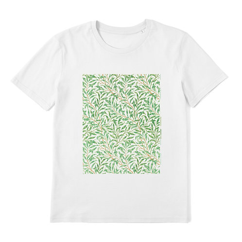 WILLIAM MORRIS - Willow Bough - 100% Organic Cotton Unisex T-Shirt featuring Vintage Textile Art Pattern