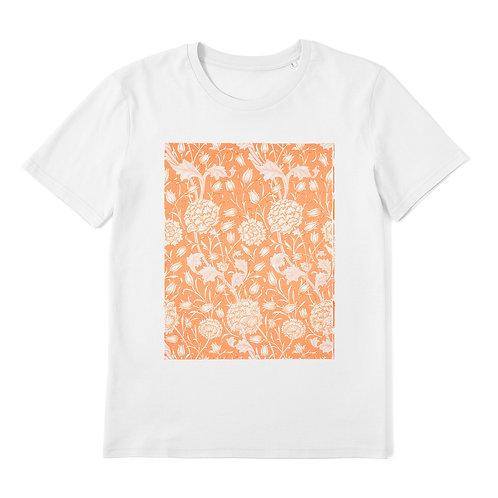 WILLIAM MORRIS - Wild Tulip - 100% Organic Cotton Unisex T-Shirt featuring Vintage Textile Art Pattern