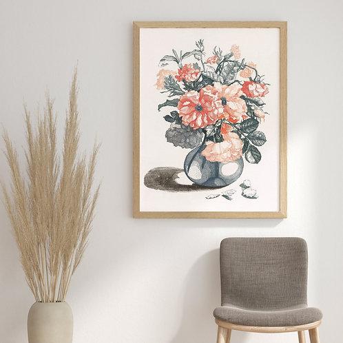 Johan Teyler -  Flowers In A Vase 2 (À La Poupée)