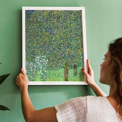 Gustav Klimt - Rosebushes Under The Trees