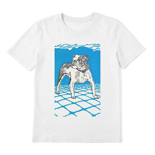 Bulldog - 100% Organic Cotton Unisex T-Shirt featuring a Vintage Animal Lithograph by Moriz Jung