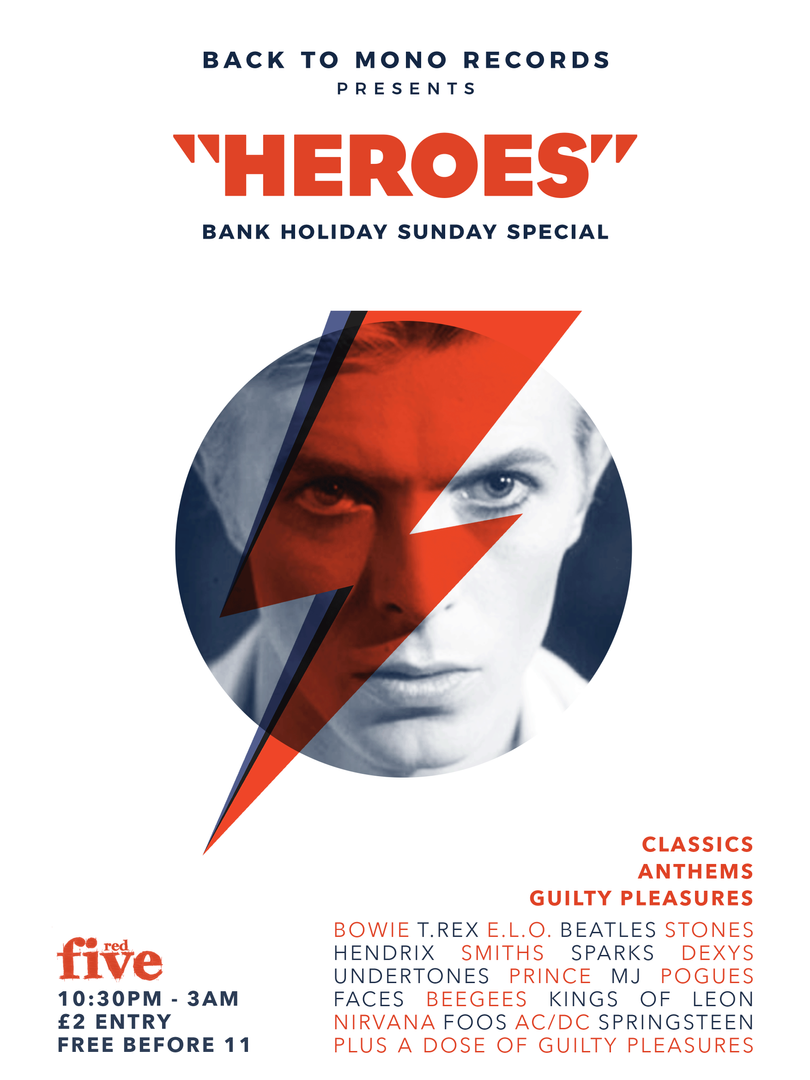 Back To Mono Records Lincoln David Bowie Heroes Red Five