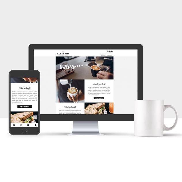 Basecamp Coffee Website Design