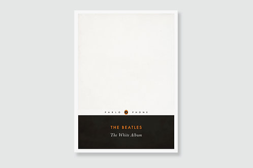 THE BEATLES - The White Album (In style of Classic Book Cover)