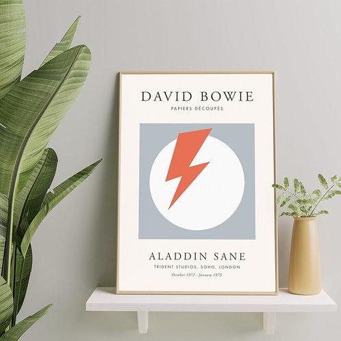 David Bowie - Aladdin Sane (Exhibition Poster)
