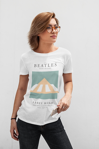The Beatles - Abbey Road (Exhibition Poster Style T-Shirt)