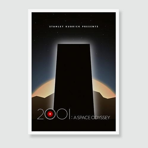2001: A SPACE ODYSSEY (Stanley Kubrick) Film Art Print / Movie Poster