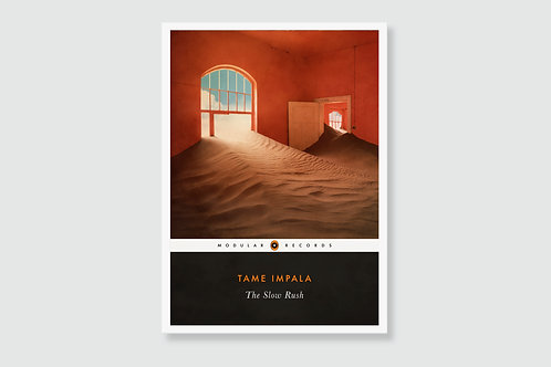 TAME IMPALA - The Slow Rush (In style of Classic Book Cover)
