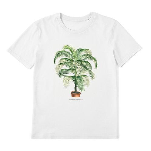 Coconut Palm Tree - 100% Organic Cotton Unisex T-Shirt featuring Vintage Plant Art
