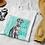 Vintage Greyhound Colour Print T-Shirt Moriz Jung Lithograph Design