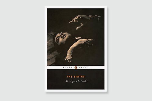THE SMITHS - The Queen Is Dead (In style of Classic Book Cover)