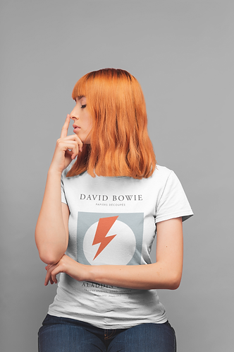 David Bowie - Aladdin Sane (Exhibition Poster Style T-Shirt)