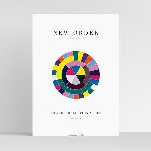 NEW ORDER - Power, Corruption & Lies (Minimalist Giclée Art Print / Music Poster