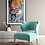 High Resolution Framed Giclèe Art Print Mockup - Acrylic on Canvas Contemporary Painting