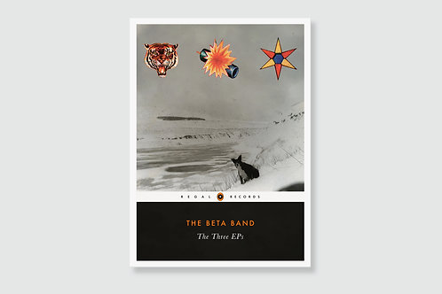THE BETA BAND - The Three E.P.'s (In style of Classic Book Cover)