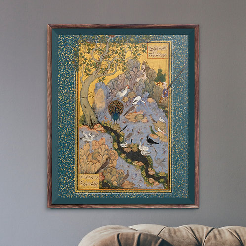 Framed Giclèe Art Print Mockup - Traditional Persian Painting