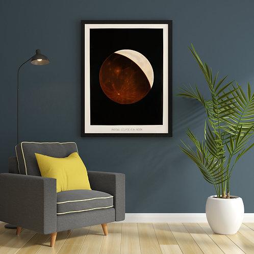 E. L. Trouvelot - Partial Eclipse Of The Moon