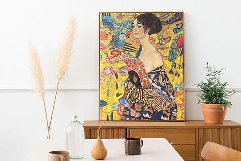 Gustav Klimt - Lady With Fan (Dame Mit Fächer)