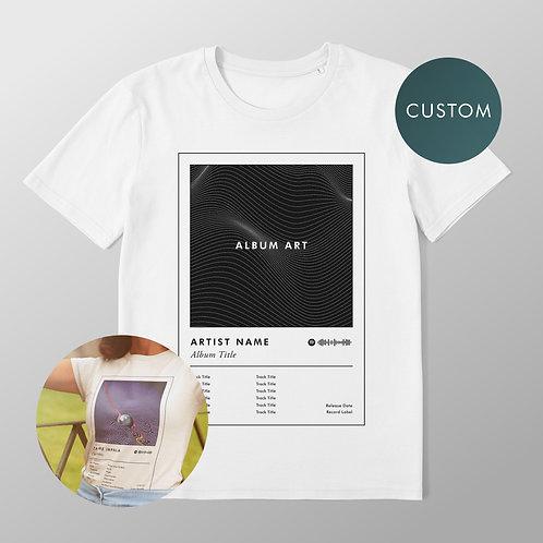 Custom Album Art Unisex T-Shirt (Features Spotify Scan Code)