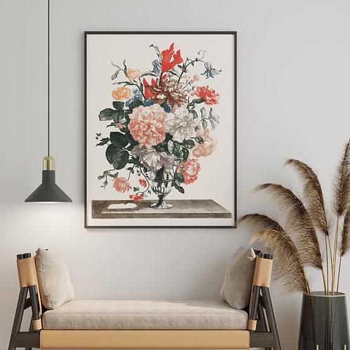 Johan Teyler -  Flowers In A Vase 3 (À La Poupée)