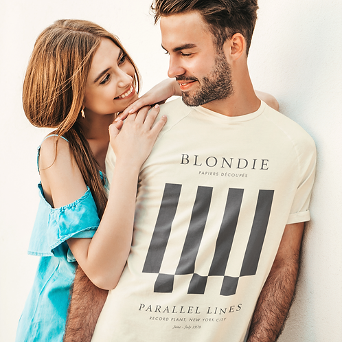 Blondie - Parallel Lines (Exhibition Poster Style T-Shirt)