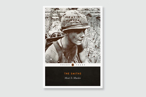 THE SMITHS - Meat Is Murder (In style of Classic Book Cover)