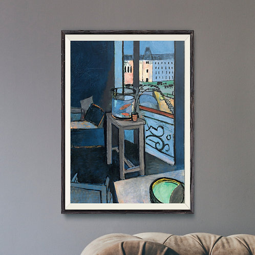 Framed Giclèe Art Print Mockup - Oil on Canvas Fauvist Painting