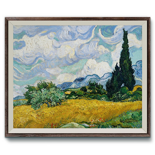 Vincent Van Gogh - Wheat Field With Cypresses