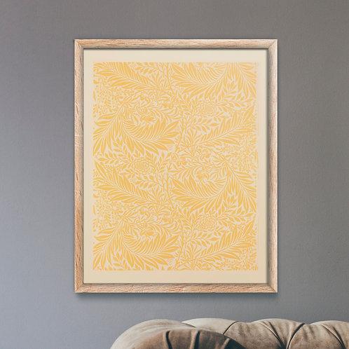 Framed Giclèe Art Print Mockup - Textile Pattern Lithograph