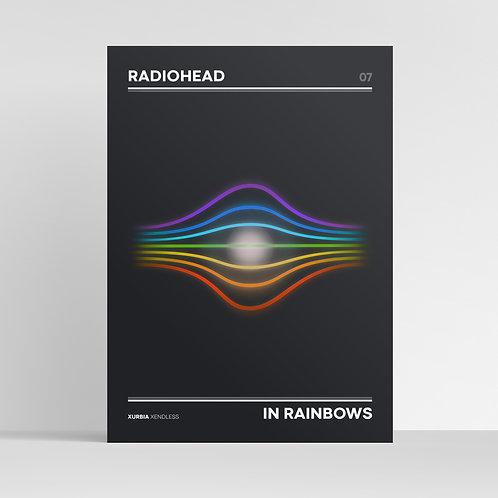 RADIOHEAD | In Rainbows Minimalist Album Artwork Design / Graphic Music Print