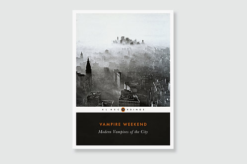 VAMPIRE WEEKEND - Modern Vampires Of The City (Style of Classic Book Cover)
