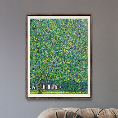 Framed Giclèe Art Print Mockup - Oil on Canvas Symbolist Painting