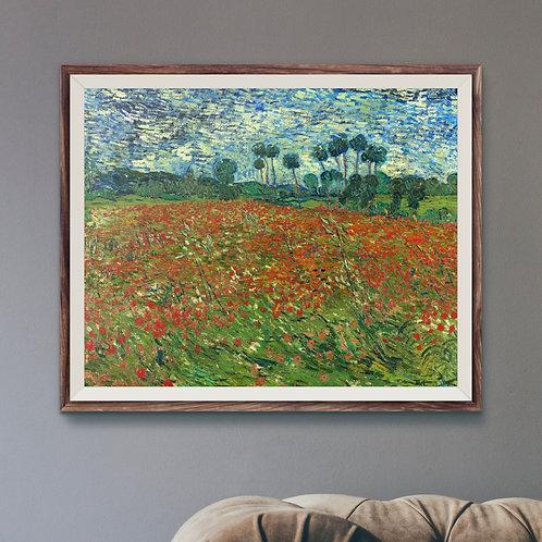 Framed Giclèe Art Print Mockup - Oil on Canvas Post-Impressionist Painting
