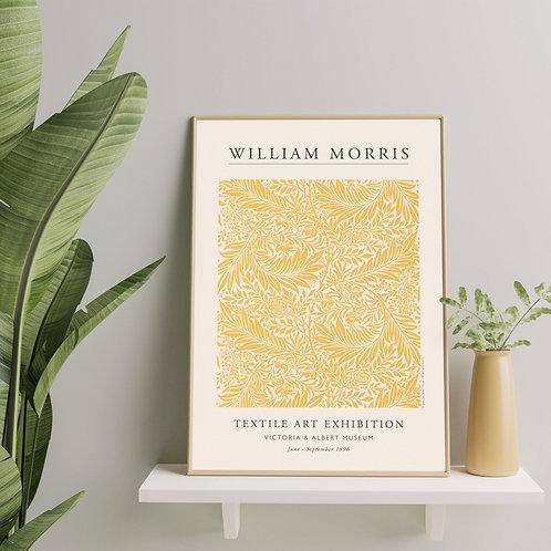 William Morris - Larkspur (Minimalist Exhibition Poster)