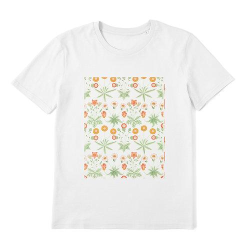 WILLIAM MORRIS - Daisy - 100% Organic Cotton Unisex T-Shirt featuring Vintage Textile Art Pattern