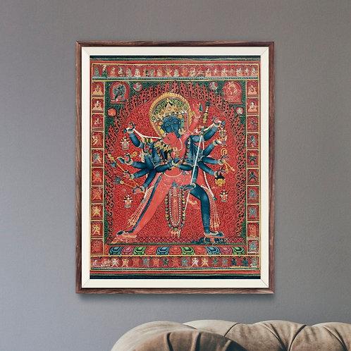 Chakrasamvara and Consort Vajravarahi (Tibetan / Buddhist Art)