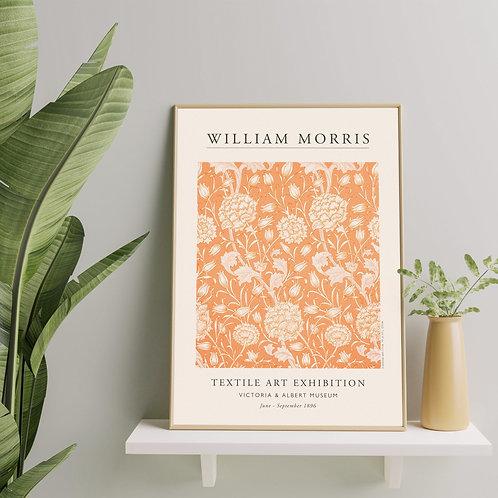 William Morris - Wild Tulip (Minimalist Exhibition Poster)