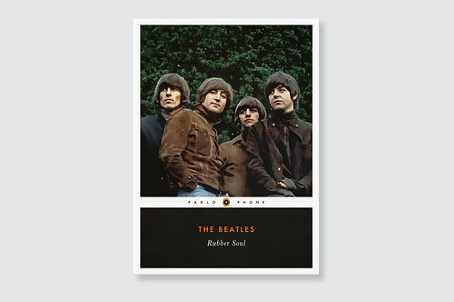 THE BEATLES - Rubber Soul (In style of Classic Book Cover)