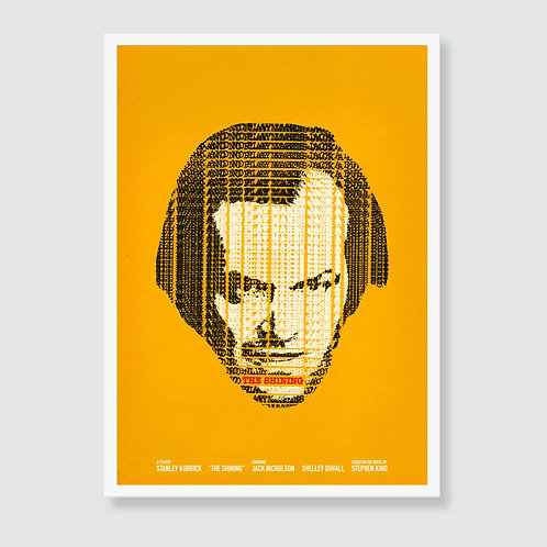 THE SHINING (Stanley Kubrick, Stephen King, Jack Nicholson) Film Art Print / Movie Poster