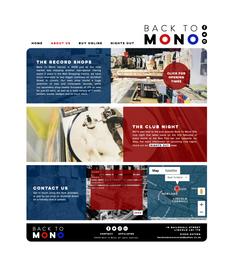 Back To Mono Records Website Design