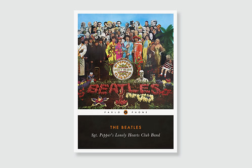 THE BEATLES - Sgt. Pepper's Lonely Hearts Club (In style of Classic Book Cover)