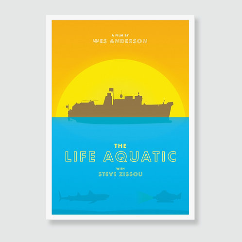 THE LIFE AQUATIC with Steve Zissou (Wes Anderson, Bill Murray) Film Art Print / Movie Poster