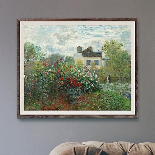 The Artist's Garden in Argenteuil (A4 Print) - Near Mint
