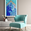 High Res Giclèe Art Print Mockup - Acrylic on Canvas Contemporary Painting