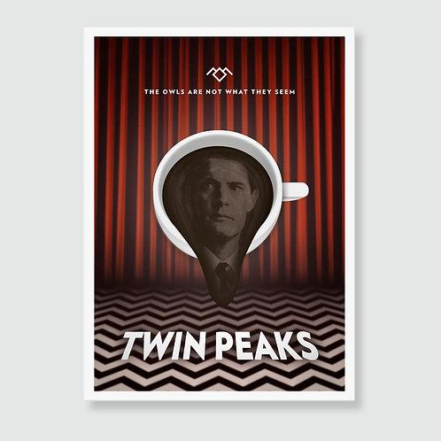 TWIN PEAKS (David Lynch) TV Show Art Print / Movie Poster