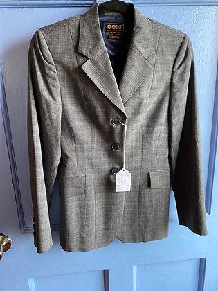 8546Bro Ariat Grey Plaid Show Coat