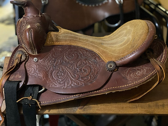12523Tlu Childs Western Saddle
