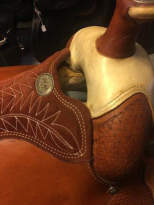 10064Bur Billy Cook Team Roper Saddle